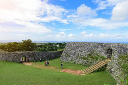 restored: Zakimi Castle is a Ryukyuan gusuku in Yomitan, Okinawa. It is in ruins, but the walls and foundations have been restored. It was built between 1416 and 1422 by the renowned Ryukyuan general Gosamaru Editorial