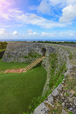 Zakimi Castle is a Ryukyuan gusuku in Yomitan, Okinawa. It is in ruins, but the walls and foundations have been restored. It was built between 1416 and 1422 by the renowned Ryukyuan general Gosamaru Editorial