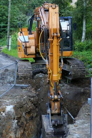 road construction tractor excavator shovel grader Stock Photo - 1512035