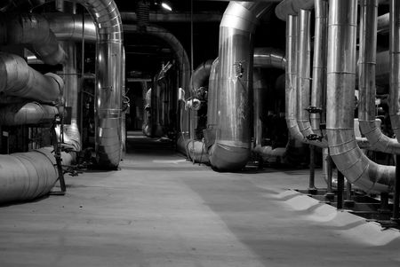 An assortment of different size and shaped pipes at a power plant Stock Photo - 3002539