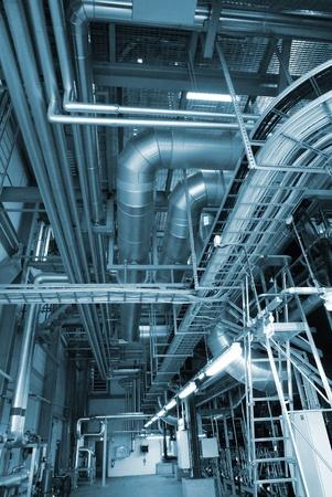 nieuwe apparatuur elektriciteitscentrale Stockfoto