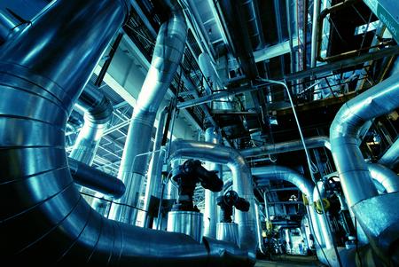 Zona industrial, tuber?as de acero y equipo Foto de archivo - 22987265