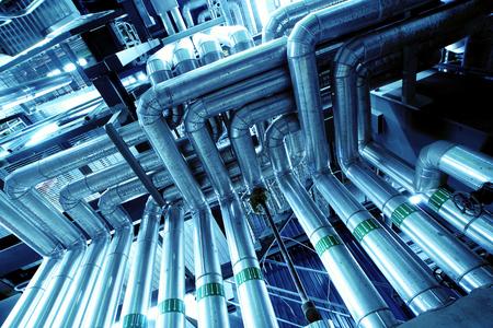 Industriële zone, staal pijpleidingen