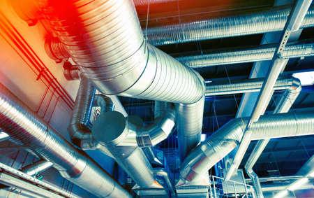 Sistema di tubi di ventilazione industriale Archivio Fotografico - 73594224