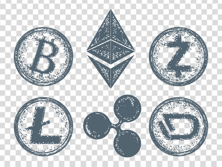 Crypto currency elements icon Ilustrace