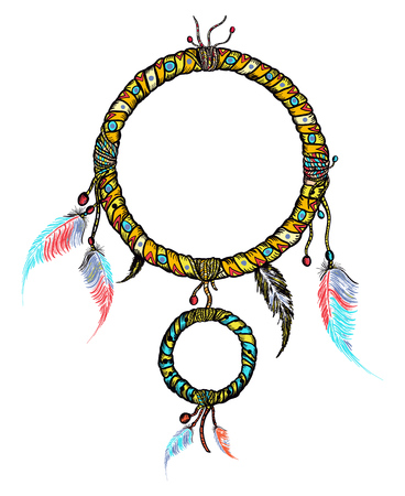 Dream catcher hand drawn vector Illustration