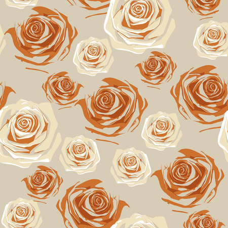 Beautiful vintage roses seamless pattern. Beautiful buds of flowers of rose seamless romantic and love background