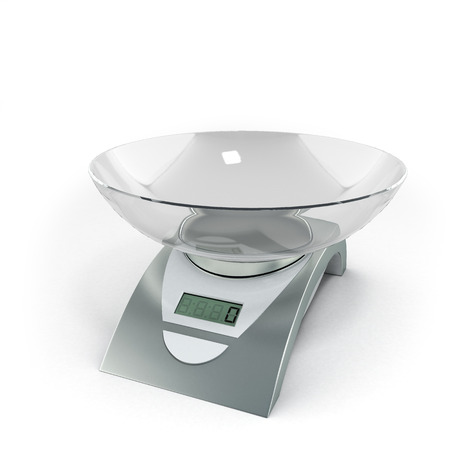 weigh machine: Electronic scales isolated on a white background