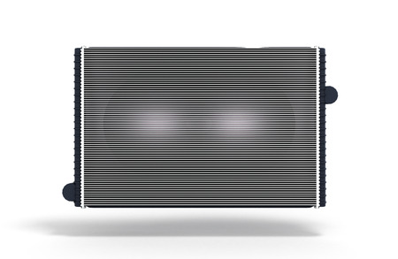 alloy: car radiator isolated on white background 3d render Stock Photo