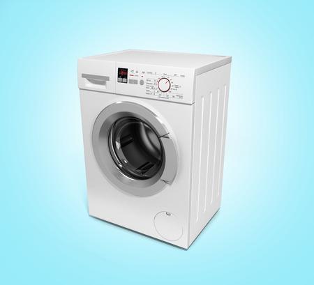 workingman: Washing machine on gradient background 3D illustration Stock Photo