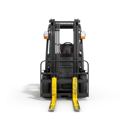 Forklift loader isolated on white 3D illustration