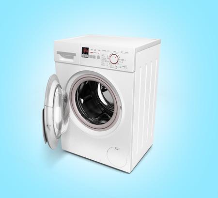 workingman: open washing machine on gradient background 3D illustration