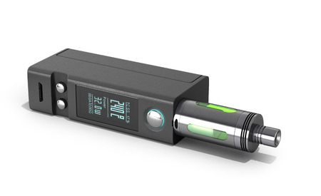mod: Electronic cigaretts Device box mod to smokeless smoking 3d render on white