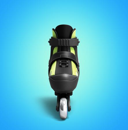 rulos: Rodillos de patines en línea en 3D hacen en gradiente Foto de archivo