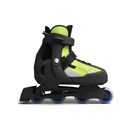 inline: inline rollers skates 3d render isolated on white background Stock Photo