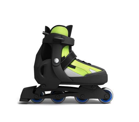 rulos: Rodillos de patines en línea 3d aislado en el fondo blanco