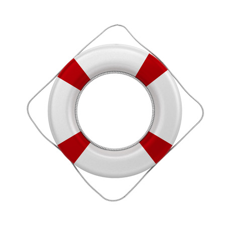 flotation: lifebuoy 3d render on a white background without a shadow