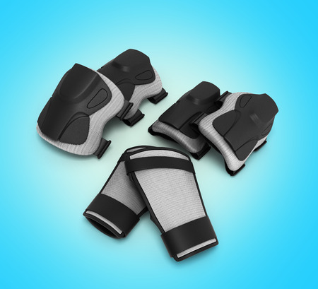protective: Protective gear for multi sport 3d render on gradient background