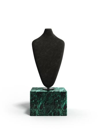 jewelery: dummy for neck jewelery 3d render on white