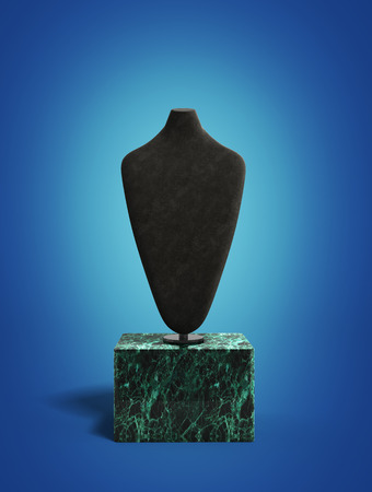 dummy: dummy for neck jewelery 3d render on blue gradient