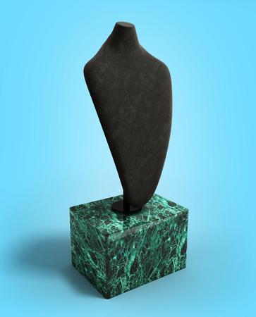 dummy: dummy for neck jewelery 3d illustration on gradient