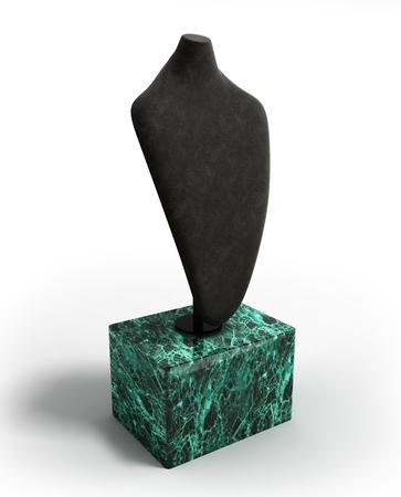 neckless: dummy for neck jewelery 3d illustration on white