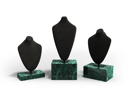 neckless: dummys for neck jewelery 3d illustration on white