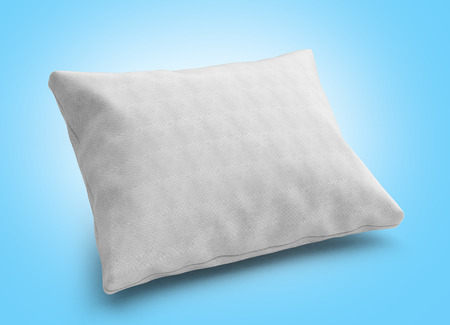 white pillow: close up of a clasic white pillow 3d render on gradient background