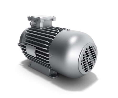 traction device: electric motor generator 3d illustration on a white background
