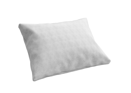 white pillow: close up of a clasic white pillow 3d render on white background