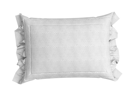 white pillow: close up of a white pillow 3d render on white background