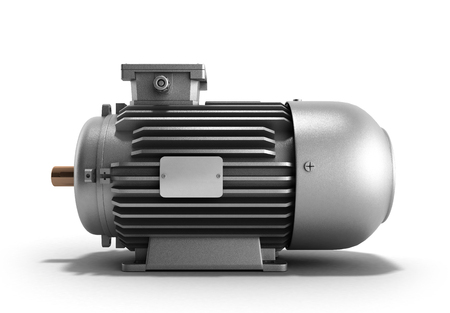 traction device: electric motor generator 3d render on a white background