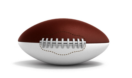 college footbal: american football ball 3d render isolated on white background Stock Photo