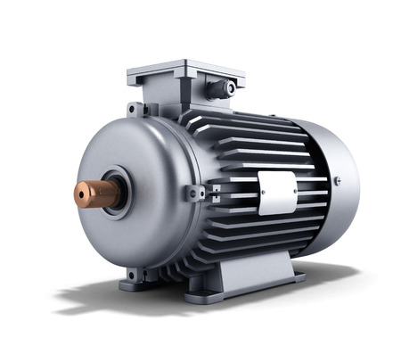 axle: electric motor generator 3d illustration on a white background
