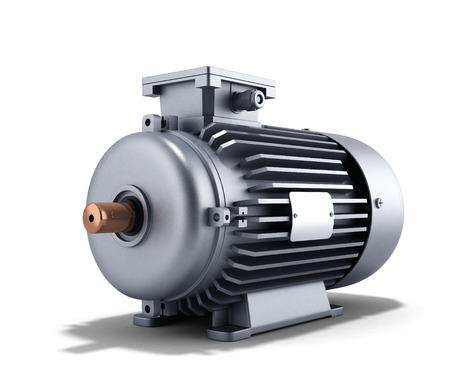 Générateur de moteur électrique 3d illustration sur un fond blanc