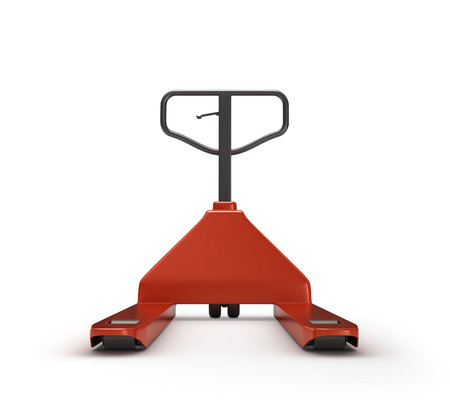 pallet truck: Hand pallet truck, isolated on white