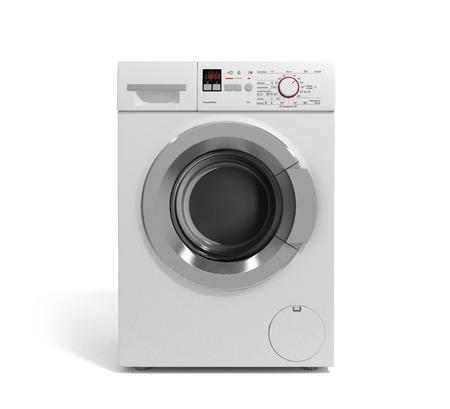 workingman: Washing machine on white background 3D illustration