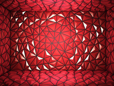 Abstract 3d rendering of darck red surface Background with futuristic polygonal shape