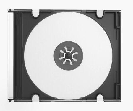 writable: 3D CD cover on white background