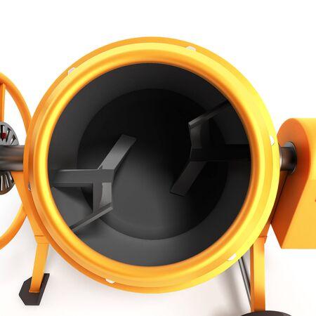 Concrete mixer 3D illustration on white bacground Stock Photo