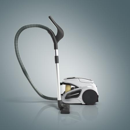 3d render of vacuum cleaner on grey gradient background Stock Photo