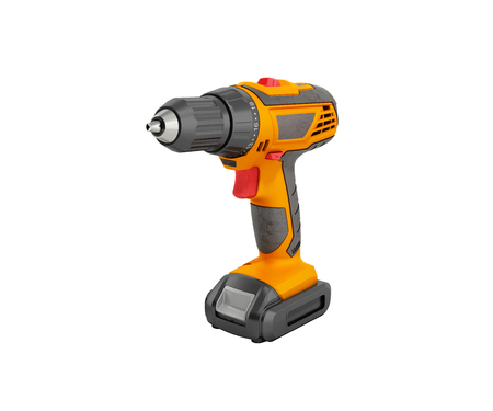 keyless: combi drill impact drill and screw driver 3d render no shadow