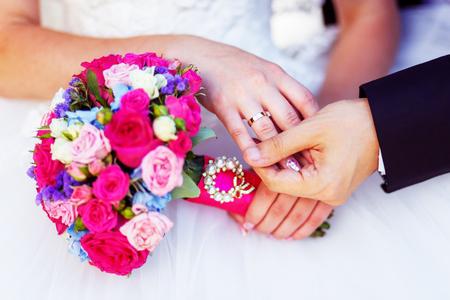 The Wedding Ring on Her finder wedding background