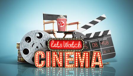 masonry: cinema had light concept nave lets watch cinema 3d render on blue
