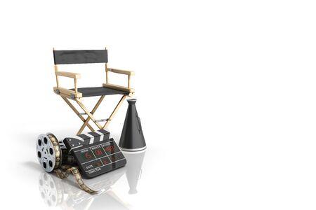 cinema concept  3d render on white background