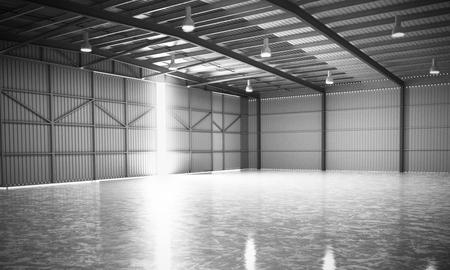 empty warehouse: empty Hangar delivery warehouse 3d render image