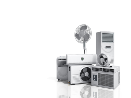 air conditioning equipment 3d rensder on white background Фото со стока
