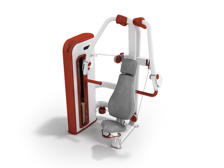 Modern sport exercise machine for the body perspective 3d render on a white background Stock Photo