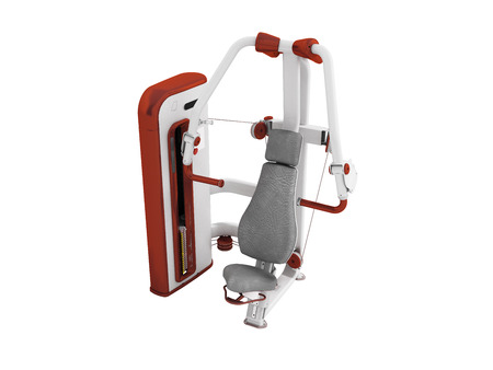 Modern sport exercise machine for the body perspective 3d render on a white background no shadow Stock Photo