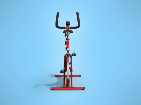 muscular control: A sports bike home red in front 3d render on a blue background Stock Photo
